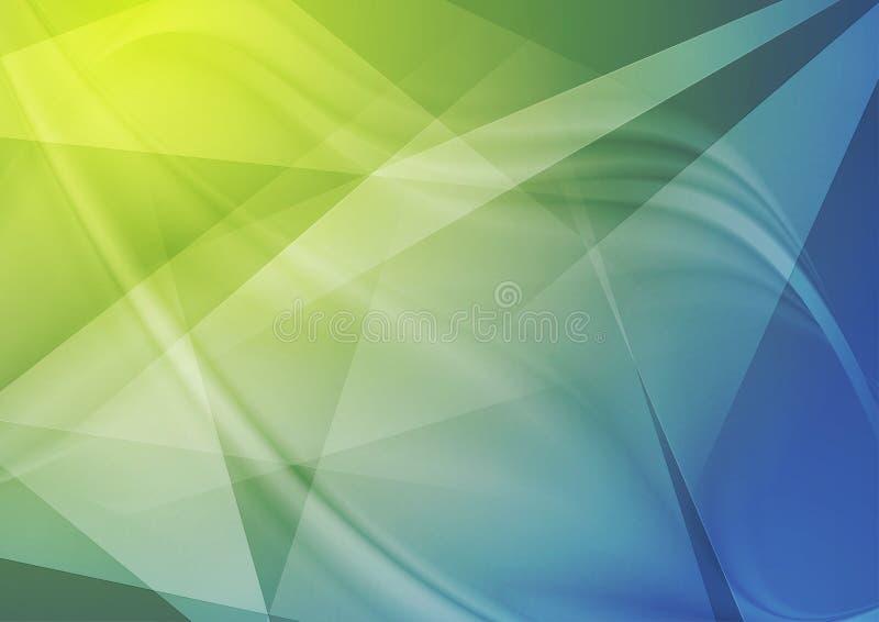 Fondo ondulato poligonale di tecnologia luminosa dell'estratto illustrazione vettoriale