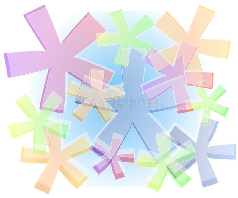 Fondo opaco en colores pastel de las estrellas ilustración del vector
