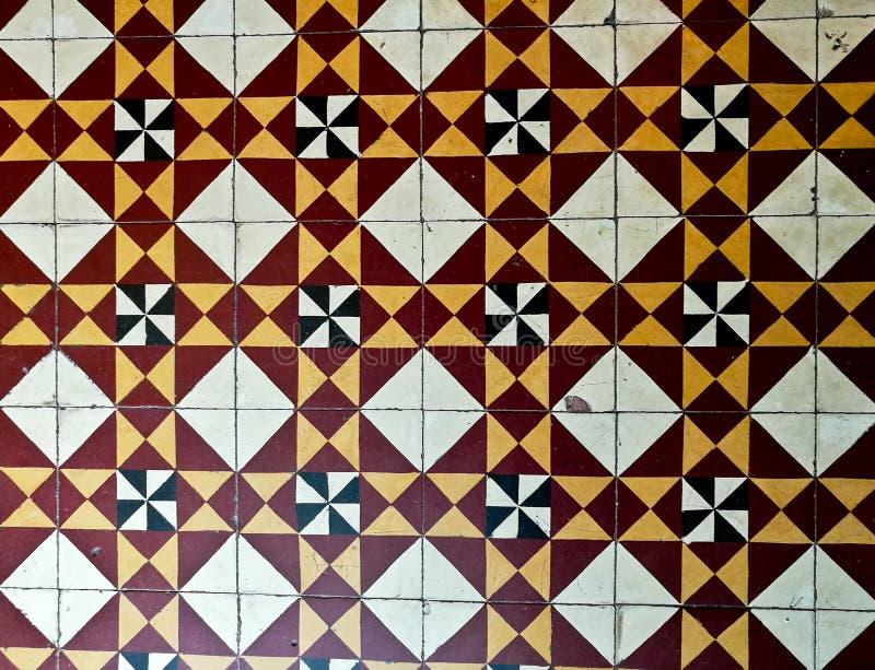 Fondo operato del pavimento delle mattonelle marocchine immagine stock libera da diritti