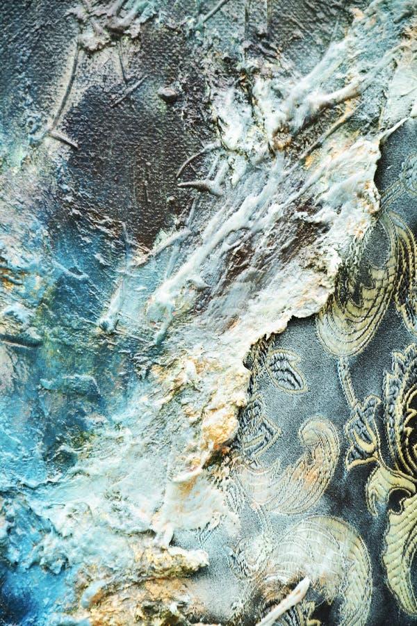 Fondo orgánico chispeante abstracto de la persona hipnotizada de la materia textil de la pintura de aceite fotos de archivo libres de regalías