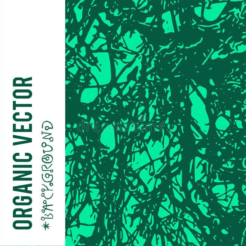 Fondo organico di vettore con le strutture del fogliame della natura e gli oggetti scuri di lerciume illustrazione vettoriale