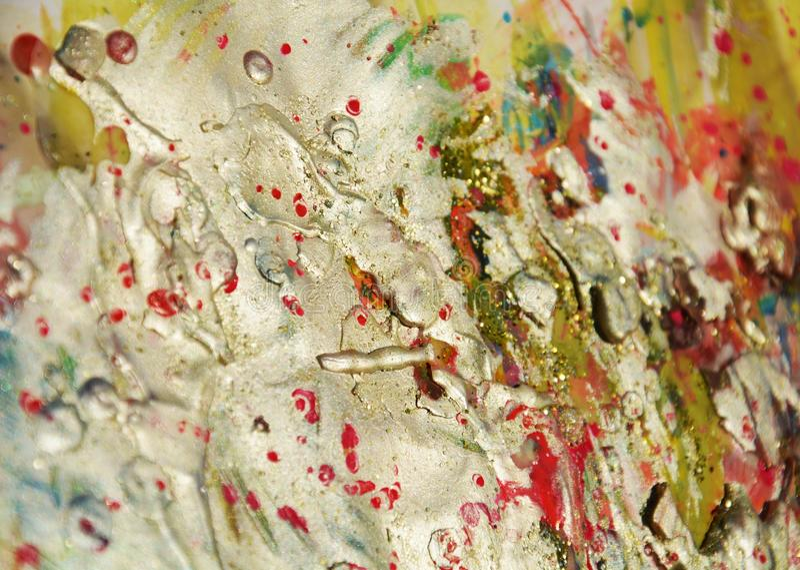 Fondo organico scintillante astratto, tonalità rosse bianche del fango immagini stock libere da diritti