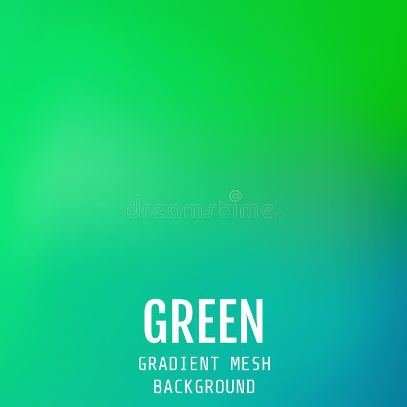 Fondo orientale dell'onda della maglia luminosa verde di pendenza dell'estratto Mo royalty illustrazione gratis