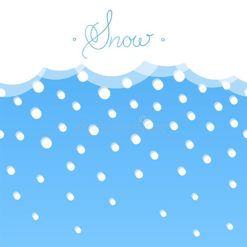 Fondo orizzontale senza cuciture con neve Stile piano illustrazione vettoriale