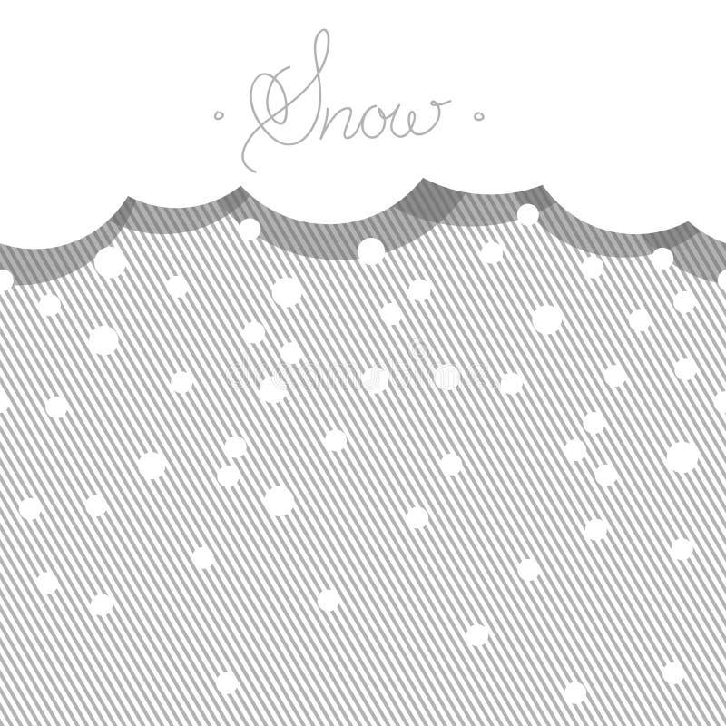 Fondo orizzontale senza cuciture con neve stilizzata illustrazione vettoriale