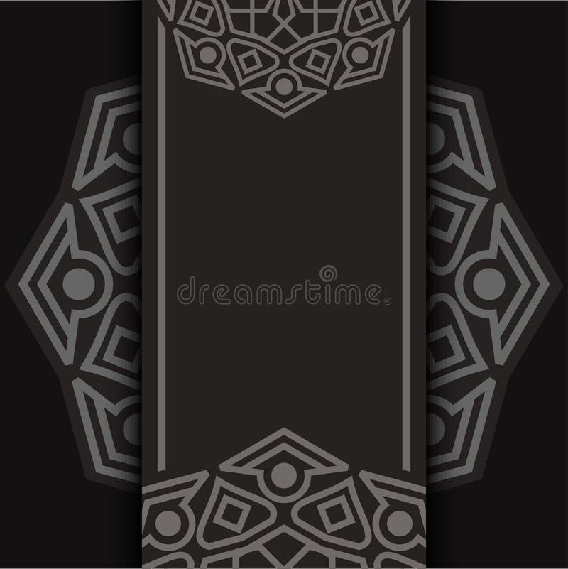 Fondo ornamental de lujo del diseño de la mandala en color oscuro libre illustration