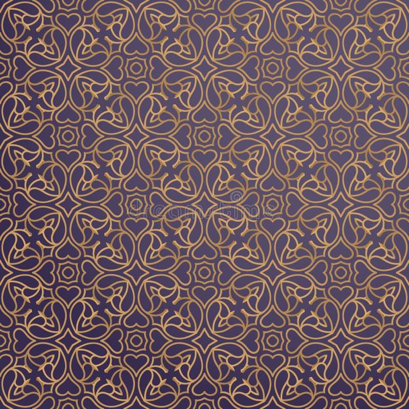 Fondo ornamental de lujo en color oro libre illustration