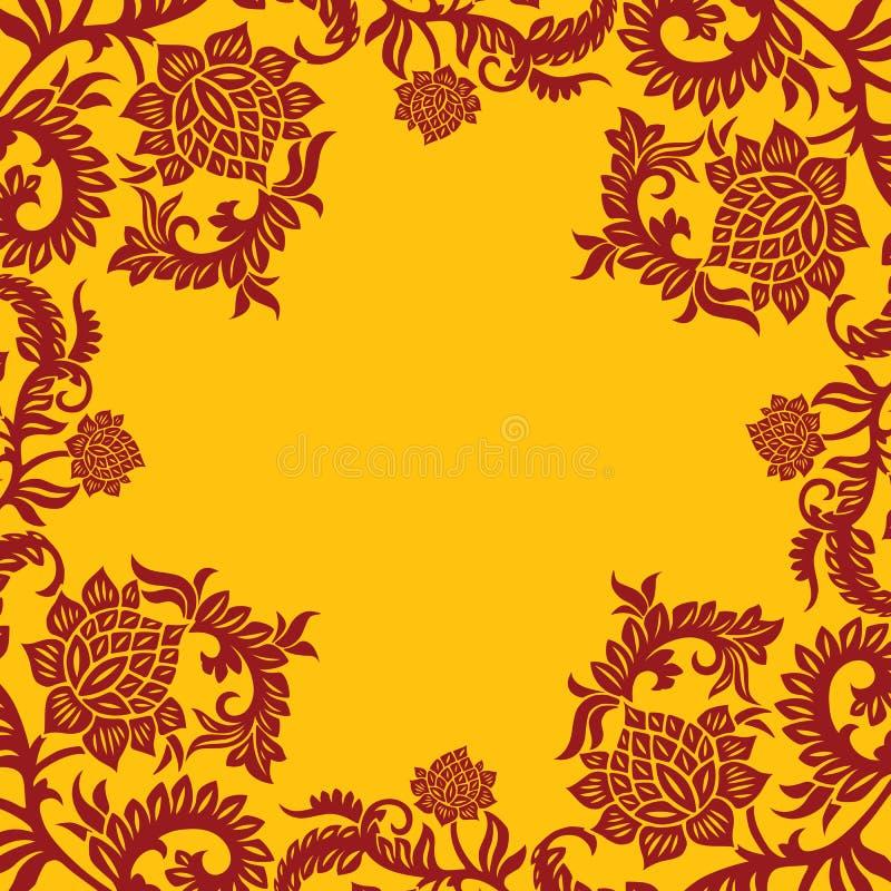 Fondo ornamental decorativo abstracto con la flor, vector IL ilustración del vector