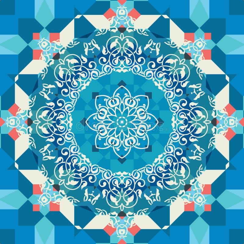 Fondo ornamental del mosaico en estilo árabe stock de ilustración