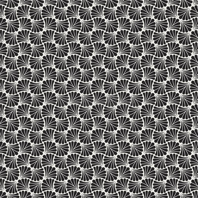 Fondo ornamental japonés del vector Art Deco Floral Seamless Pattern Textura decorativa geométrica libre illustration