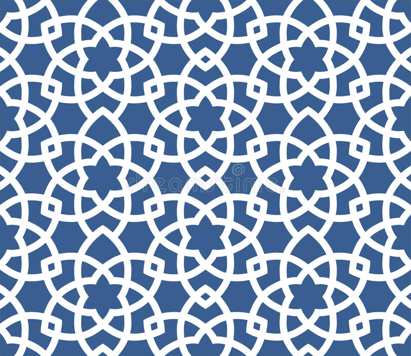 Fondo ornamentale arabo - modello persiano senza cuciture royalty illustrazione gratis