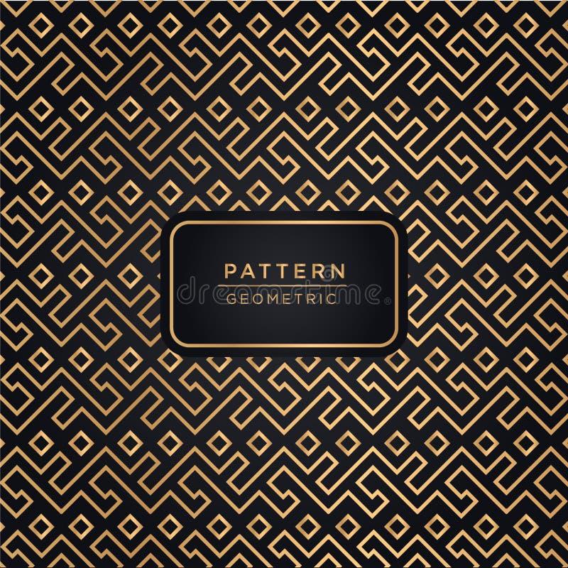 Fondo ornamentale elegante del modello nel colore dell'oro fotografia stock libera da diritti