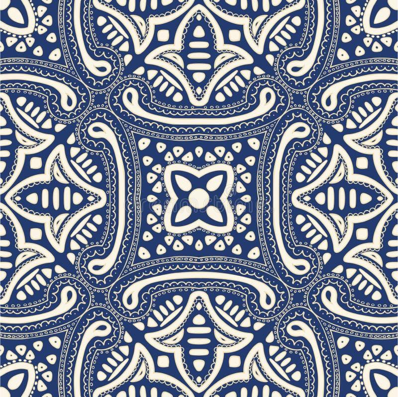 Fondo ornamentale floreale dell'estratto senza cuciture royalty illustrazione gratis