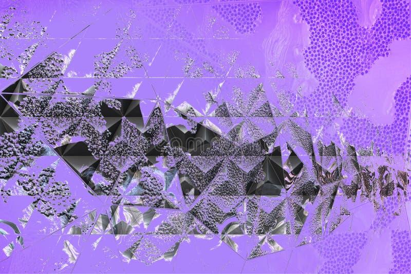 Fondo oscuro abstracto con la exposición doble ilustración del vector