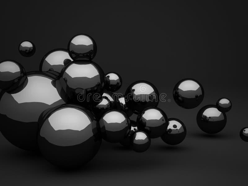 Fondo oscuro abstracto de la forma de la esfera del diseño imagen de archivo