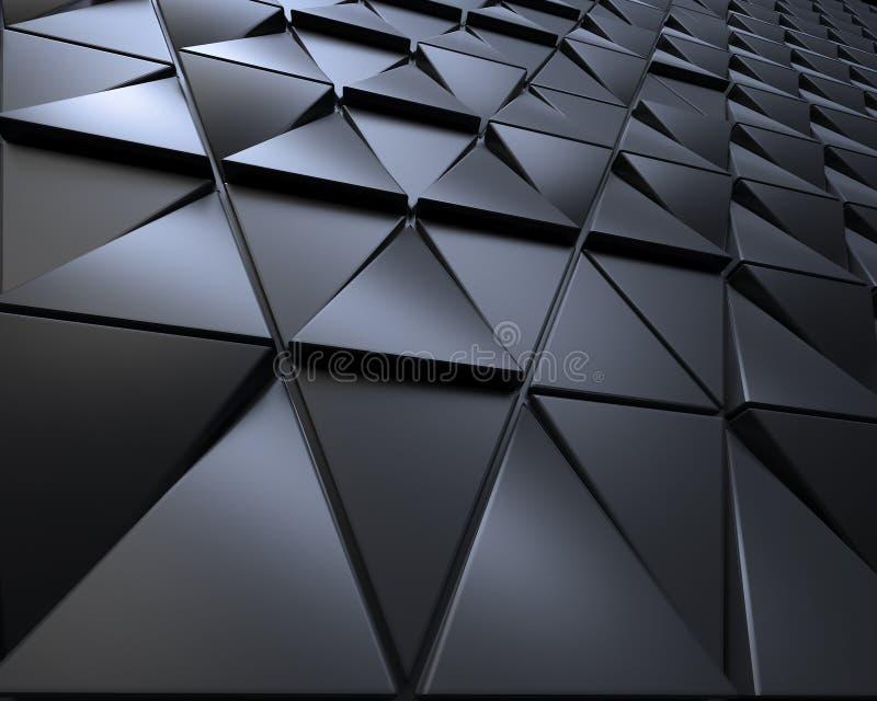 Fondo oscuro abstracto de la forma poligonal de los triagles stock de ilustración