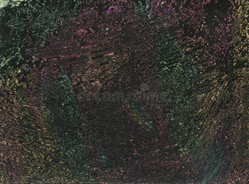 Fondo oscuro abstracto de triángulos en las sombras de colores negros y grises Líneas exhaustas del cepillo de la acuarela de la  fotografía de archivo