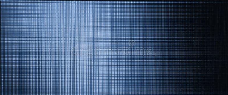 Fondo oscuro abstracto Líneas que invierten la rejilla Del azul a ennegrecerse stock de ilustración