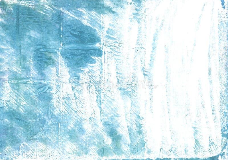 Fondo oscuro de la acuarela del extracto del azul de cielo ilustración del vector