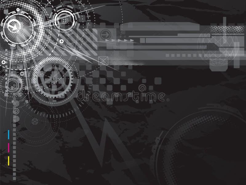 Fondo oscuro de la tecnología stock de ilustración