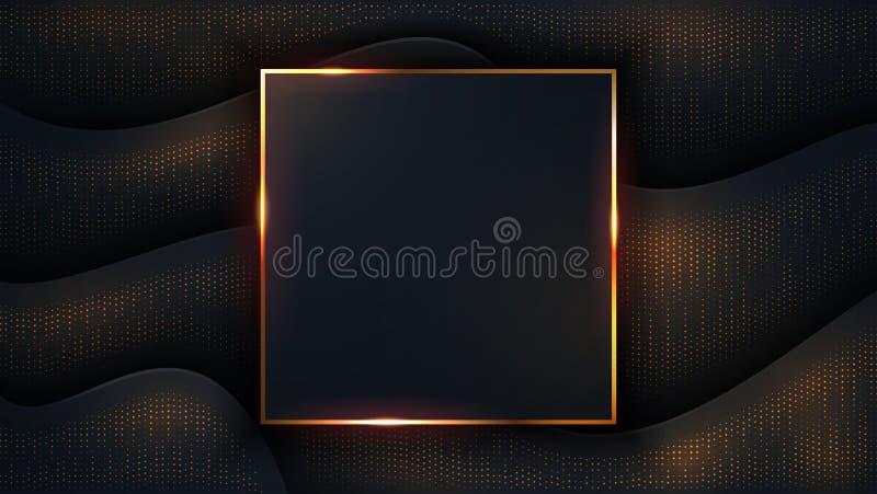 Fondo oscuro de lujo texturizado y ondulado con una combinación de puntos brillantes Ilustración del vector EPS10 libre illustration