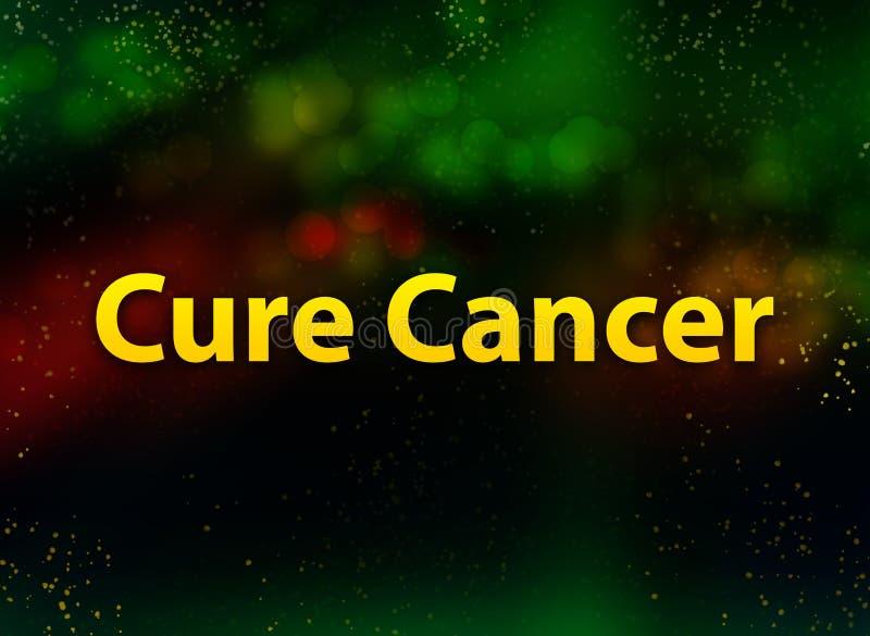 Fondo oscuro del bokeh del extracto del cáncer de la curación stock de ilustración