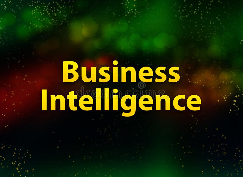 Fondo oscuro del bokeh del extracto de la inteligencia empresarial ilustración del vector