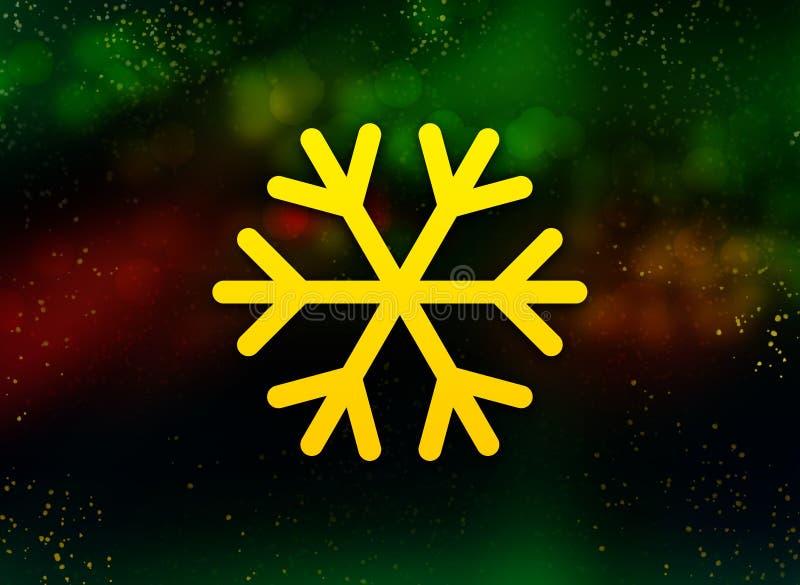 Fondo oscuro del bokeh del extracto del icono del copo de nieve libre illustration