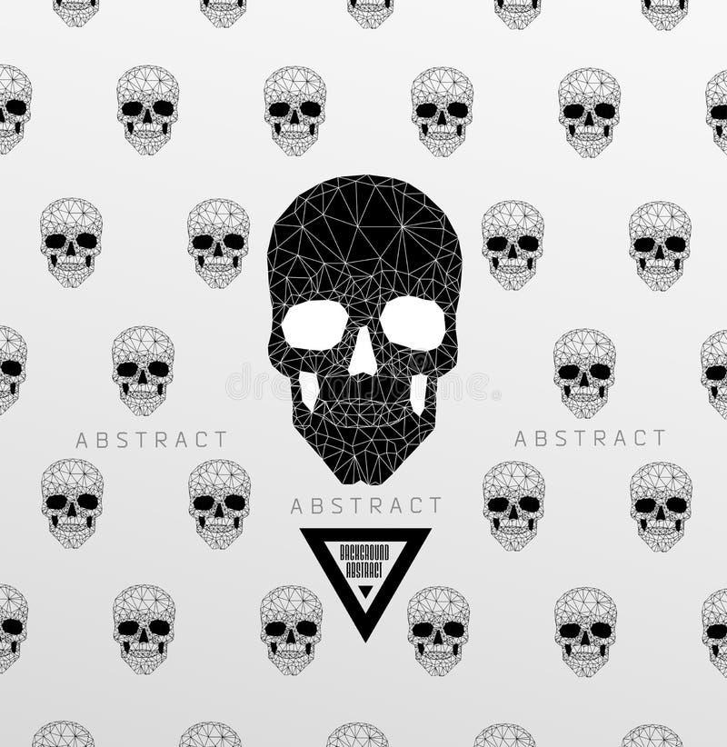 Fondo oscuro del cementerio ilustración del vector