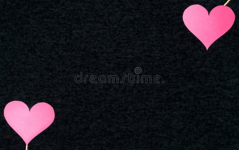 Fondo oscuro del corazón con el espacio en blanco vacío libre de la copia imagen de archivo libre de regalías