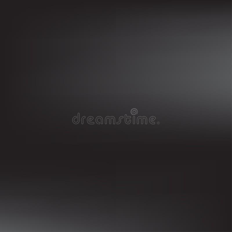 Fondo oscuro del cuadrado de Gray Black Gradient Blur Abstract Ilustración del vector stock de ilustración