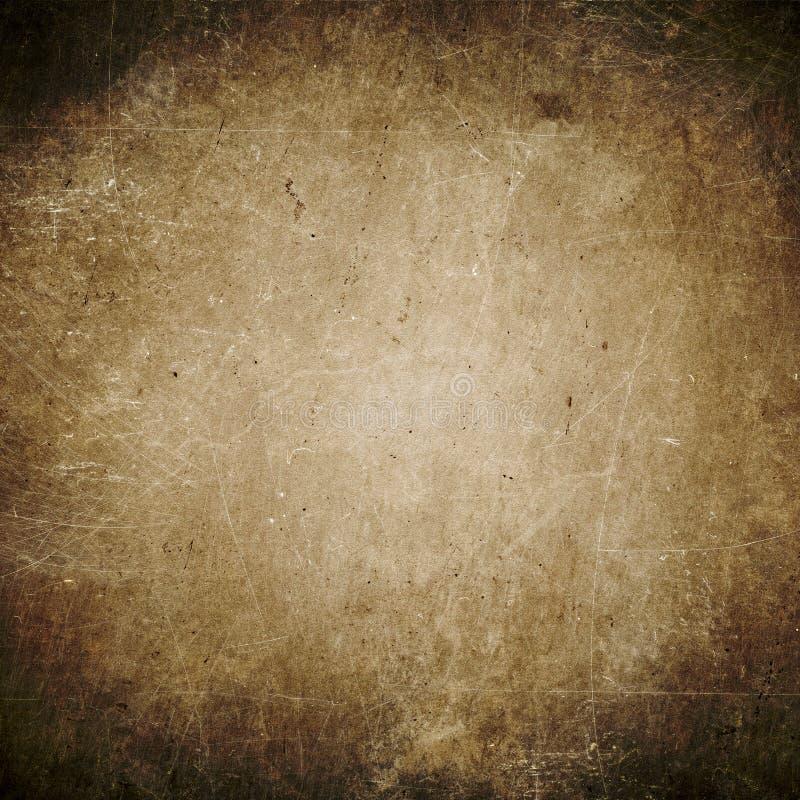 Fondo oscuro del grunge, marrón, textura de papel, polvo, suciedad, manchas imágenes de archivo libres de regalías
