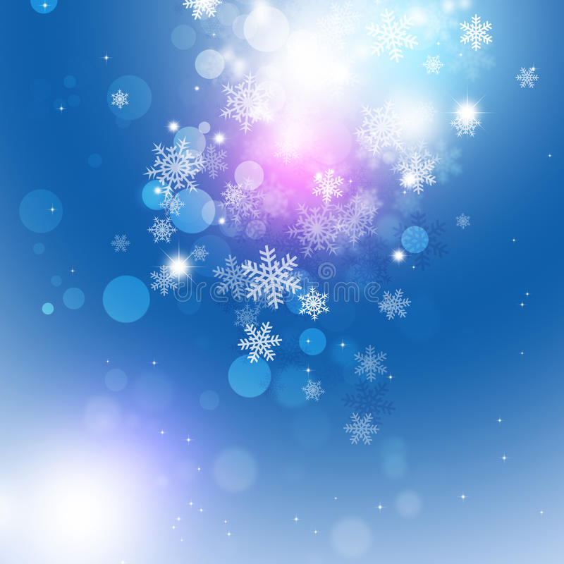 Fondo oscuro mágico de la nieve libre illustration