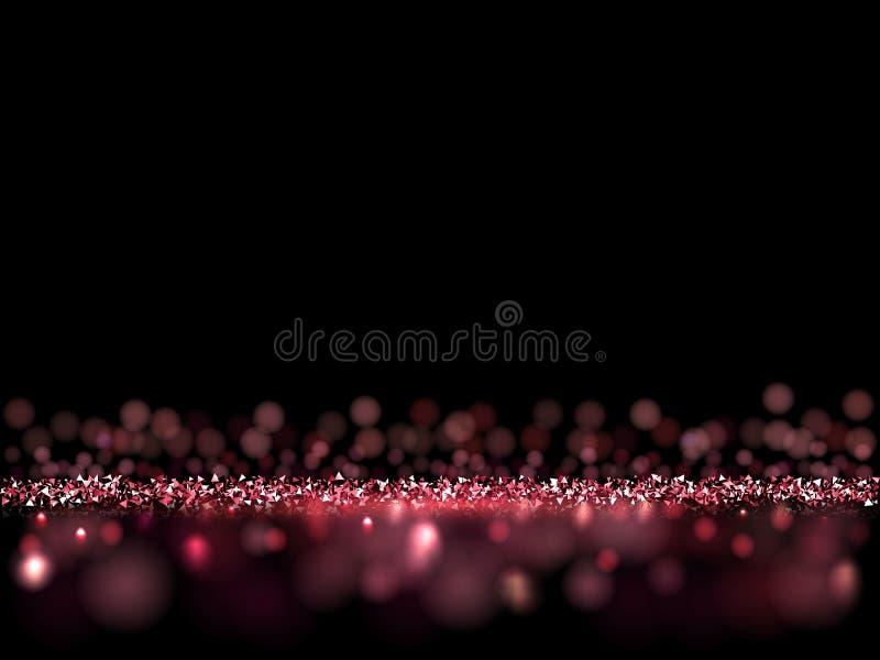 Fondo oscuro que brilla del lujo rosado Vector el fondo del VIP para los carteles, las banderas o las tarjetas libre illustration