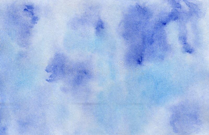 Fondo oscuro y azul claro brillante de la acuarela imagen de archivo libre de regalías
