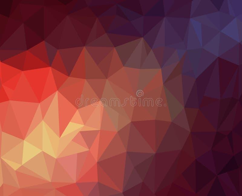 Fondo oscuro y ligero del polígono libre illustration