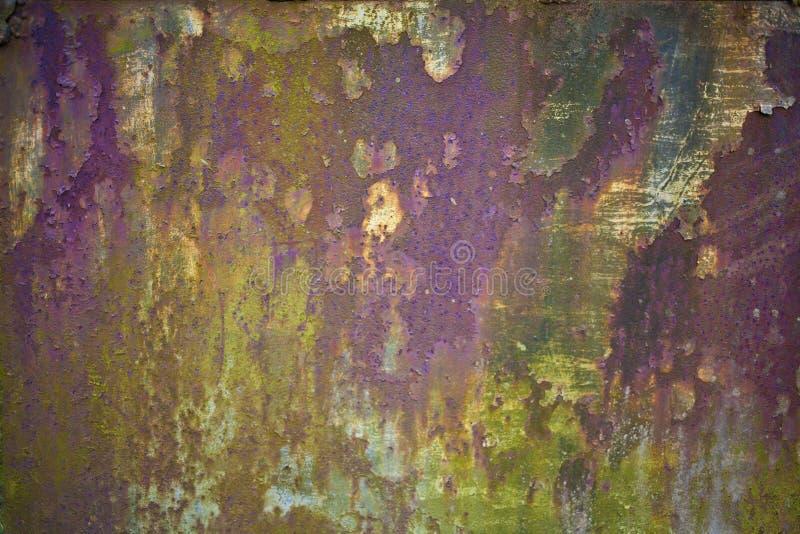 Fondo oxidado abstracto de la textura del metal foto de archivo