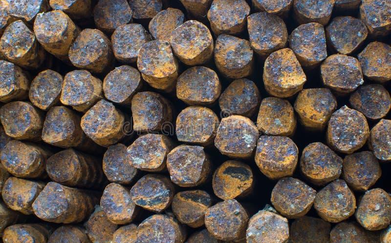 Fondo oxidado de acero de las barras imagen de archivo libre de regalías