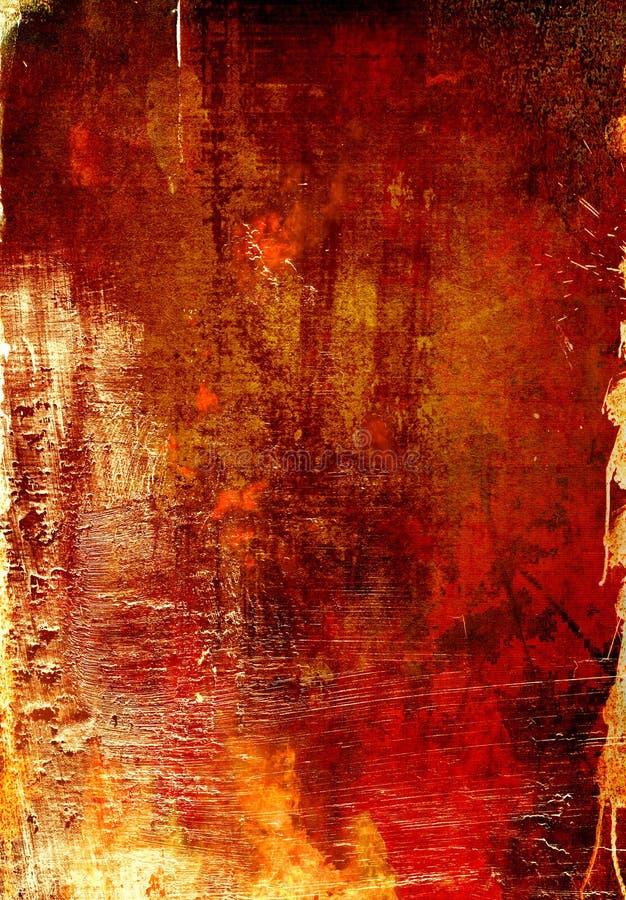 Fondo oxidado de Grunge ilustración del vector