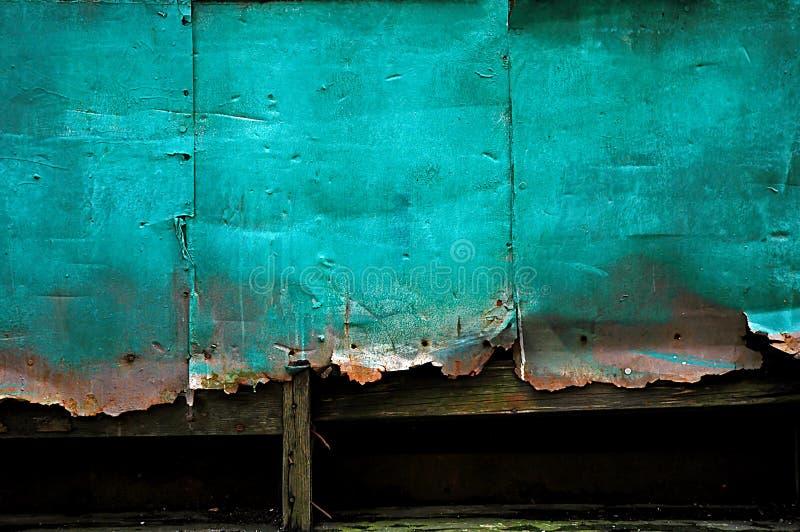 Fondo oxidado de la pared del estaño imagen de archivo libre de regalías