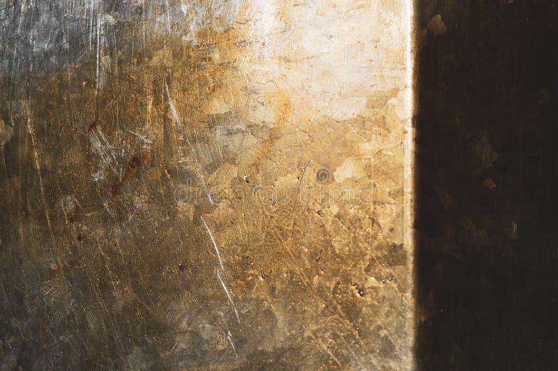 Fondo oxidado de la textura del metal vieja textura de la placa del hierro Pared de acero imagen de archivo