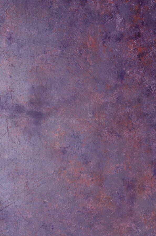 Fondo oxidado violeta del metal fotos de archivo