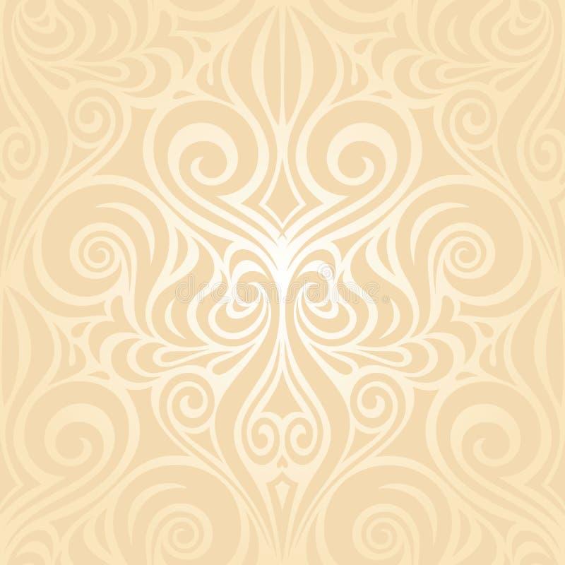 Fondo pálido de la boda retra del diseño del capítulo del vector de la invitación en estilo de moda del vintage libre illustration