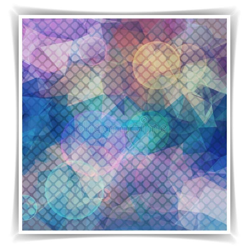 Fondo púrpura abstracto con el mosaico y la luz stock de ilustración
