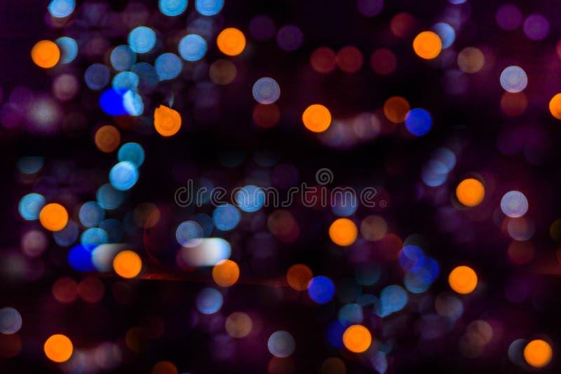 Fondo púrpura abstracto de la Navidad del bokeh S plano simple moderno fotos de archivo libres de regalías