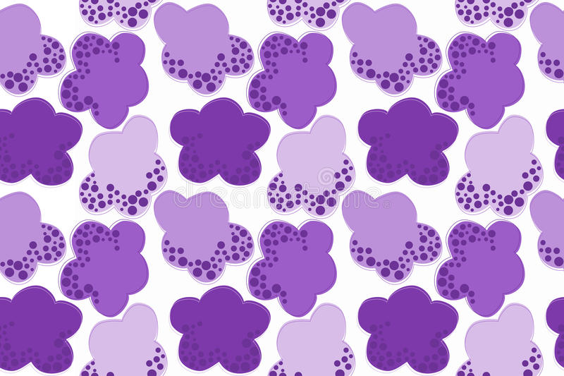 Fondo púrpura abstracto inconsútil de los coulds libre illustration