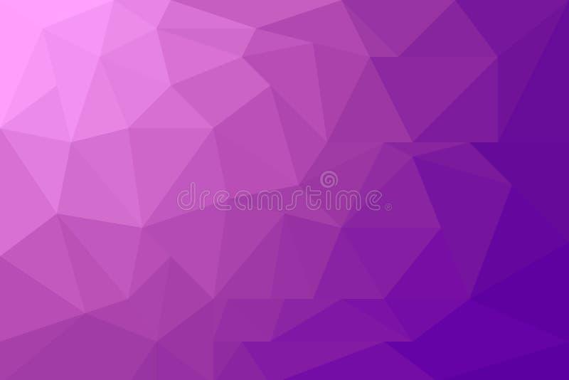 Fondo púrpura abstracto polivinílico bajo moderno colorido del polígono ilustración del vector