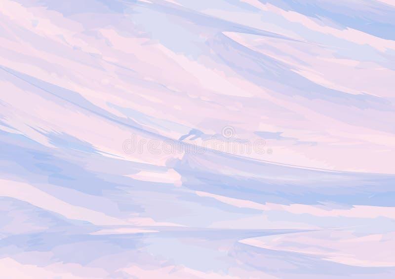 Fondo púrpura de la acuarela, textura y concepto de mármol del cielo con el espacio para el texto en puesto, diseño para el papel ilustración del vector