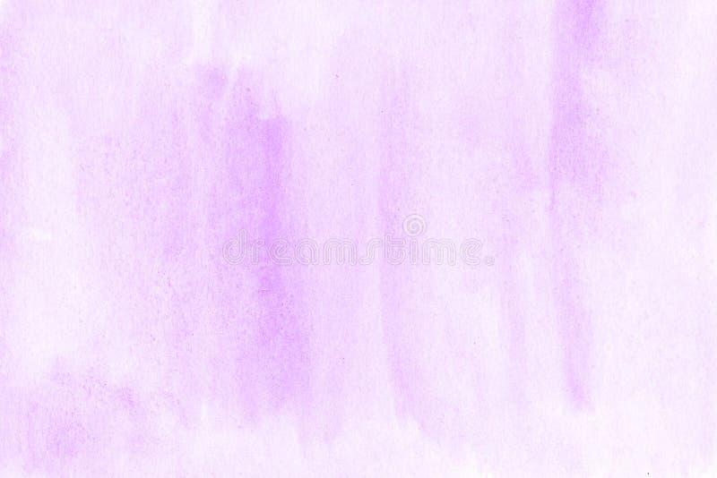 Fondo púrpura de la pintura de la acuarela, textura del arte, drenaje decorativo imagenes de archivo