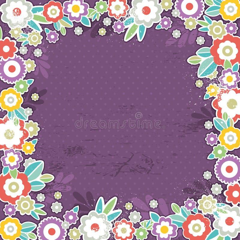 Fondo púrpura de las flores del color, vector libre illustration